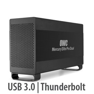 OWC Mercury Elite Pro Dual USB 3.0 & Thunderbolt RAID Storage Enclosure with cables