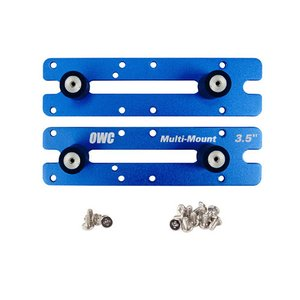 "OWC Multi-Mount: 3.5"" to 5.25"" Hard Drive adapter bracket set."