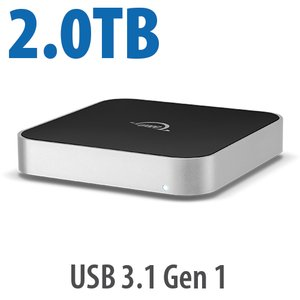 2.0TB OWC miniStack 7200RPM Storage Solution with USB 3.1 Gen 1