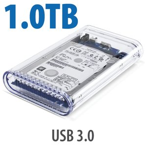 1.0TB OWC Mercury On-The-Go Pro USB 3.0 / 2.0 7200RPM Portable Bus Powered Solution.