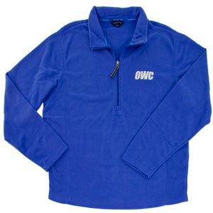 OWC Men's Large Pullover Fleece, Blue