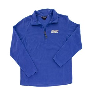 OWC Women's Large Pullover Fleece, Blue