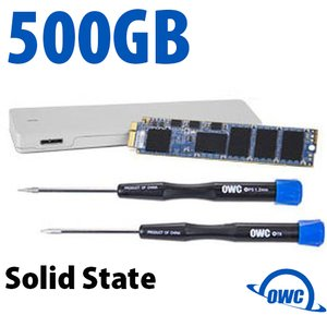 500GB OWC Aura Pro 6Gb/s SSD + OWC Envoy Upgrade Kit for MacBook Air (2012)