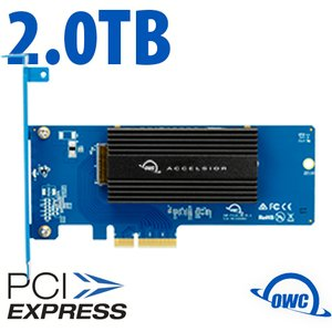 (*) 2.0TB OWC Accelsior 1M2 PCIe NVMe SSD