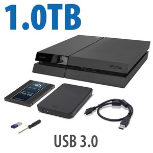 1.0TB OWC DIY Internal HDD to SSD Upgrade Bundle for Sony PlayStation 4 with USB Flash Drive, Tool & More