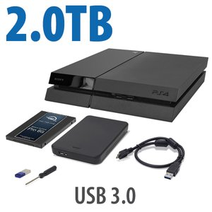 2.0TB OWC DIY Internal HDD to SSD Upgrade Bundle for Sony PlayStation 4 with USB Flash Drive, Tool & More