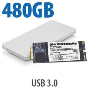 480GB OWC Aura 6G SSD + Envoy Pro Upgrade Kit for 2012-13 MacBook Pro with Retina display.