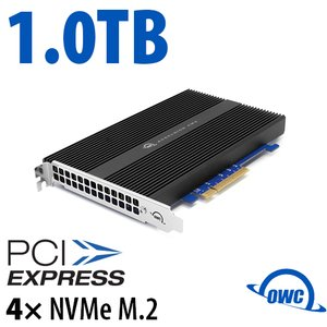 1.0TB OWC Accelsior 4M2 PCIe 3.0 M.2 NVMe SSD Storage Solution for Mac Pro (2010-2012) and PC Towers