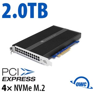 2.0TB OWC Accelsior 4M2 PCIe 3.0 M.2 NVMe SSD Storage Solution for Mac Pro (2010-2012) and PC Towers