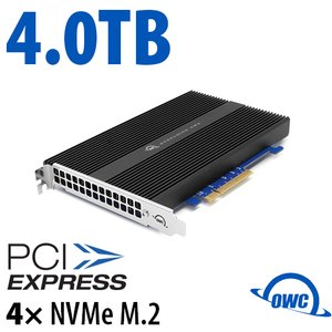 4.0TB OWC Accelsior 4M2 PCIe 3.0 M.2 NVMe SSD Storage Solution for Mac Pro (2010-2012) and PC Towers