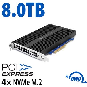 8.0TB OWC Accelsior 4M2 PCIe 3.0 M.2 NVMe SSD Storage Solution for Mac Pro (2010-2012) and PC Towers