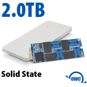 2.0TB OWC Aura Pro 6G SSD + Envoy Pro Upgrade Kit for 2012/13 MacBook Pro with Retina display.