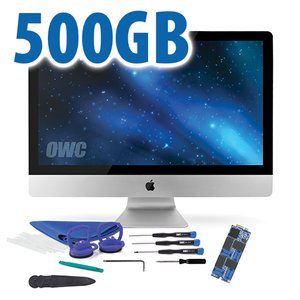 DIY Kit: 500GB OWC Aura Pro 6G Solid-State Drive for 2012-13 iMac with complete DIY toolkit