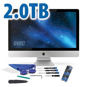 DIY Kit: 2.0 TB OWC Aura 6G SSD for 2012-13 iMac with complete DIY toolkit