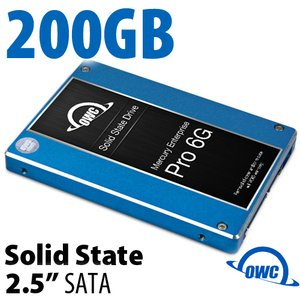 200GB Mercury Enterprise Pro 6G 2.5-inch 9.5mm SATA 6.0Gb/s Enterprise Class Solid-State Drive