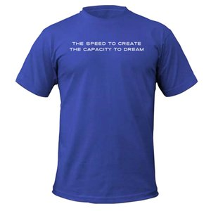 "OWC ""Speed To Create"" Shirt - Royal Blue - Unisex Size Small"