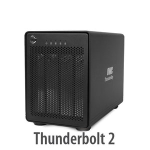 (*) OWC ThunderBay 4 Four-Bay External Drive Enclosure with Dual Thunderbolt Ports