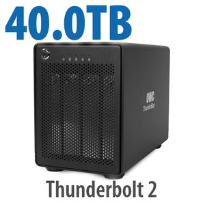 40.0TB OWC ThunderBay 4, four-drive HDD with dual Thunderbolt 2 ports, RAID 5 Solution