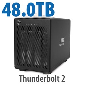 48TB OWC ThunderBay 4, four-drive HDD with dual Thunderbolt 2 ports, RAID 5 Solution