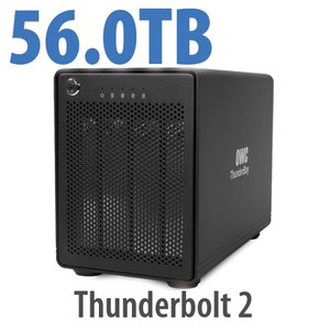 56TB OWC ThunderBay 4, four-drive HDD with dual Thunderbolt 2 ports, RAID 5 Solution