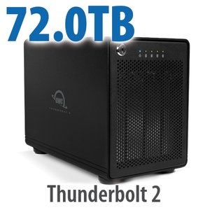 72TB OWC ThunderBay 4, four-drive HDD with dual Thunderbolt 2 ports, RAID 5 Solution