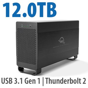 12.0TB Mercury Elite Pro Dual USB 3.1 Gen 1 & Thunderbolt 2 RAID Storage Solution - 7200RPM HDDs