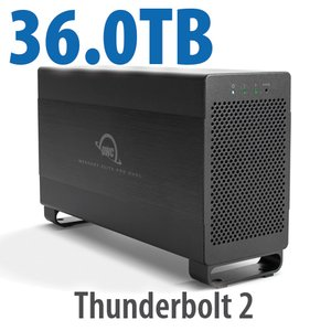 36.0TB Mercury Elite Pro Dual USB 3.1 Gen 1 & Thunderbolt 2 RAID Storage Solution - 7200RPM HDDs