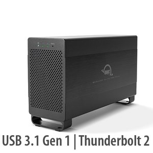 (*) OWC Mercury Elite Pro Dual USB 3.1 Gen 1 & Thunderbolt 2 RAID Storage Enclosure with cables