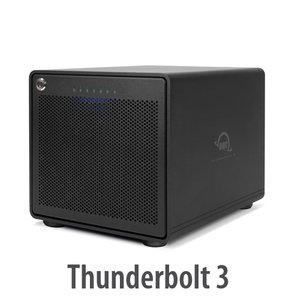 (*) OWC ThunderBay 6 RAID Ready 6-Bay External Storage Enclosure with Dual Thunderbolt 3 Ports
