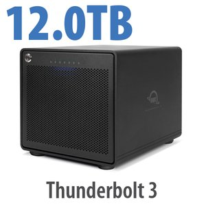 12TB OWC ThunderBay 6 RAID 0 6-Drive HDD Storage Solution with Dual Thunderbolt 3 Ports