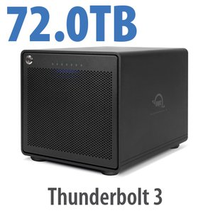 72TB OWC ThunderBay 6 RAID 0 6-Drive HDD Storage Solution with Dual Thunderbolt 3 Ports