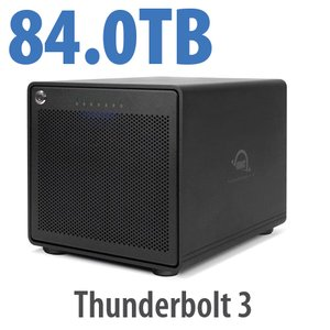 84TB OWC ThunderBay 6 RAID 0 6-Drive HDD Storage Solution with Dual Thunderbolt 3 Ports