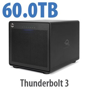 60TB OWC ThunderBay 6 RAID 5 6-Drive HDD Storage Solution with Dual Thunderbolt 3 Ports