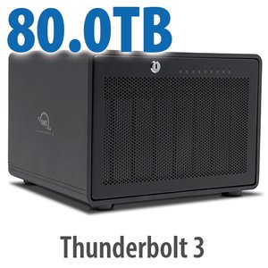 80TB OWC ThunderBay 8 Thunderbolt 3 RAID Storage Solution
