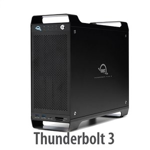 (*) OWC ThunderBay Flex 8 (8 Drive Bays) Thunderbolt multi-function solution (Add your own drives + PCIe Card slot)