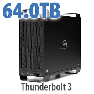 64TB (8x8TB) ThunderBay Flex 8 Thunderbolt 3 Storage Solution