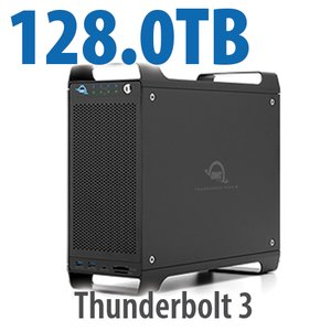 128TB (8x16TB) ThunderBay Flex 8 Thunderbolt 3 Storage Solution