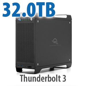 32TB (1x4TB U.2 NVMe SSD, 7x4TB HDD) ThunderBay Flex 8 Thunderbolt 3 Storage Solution
