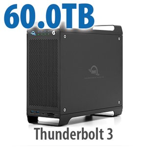 60TB (1x4TB U.2 NVMe SSD, 7x8TB HDD) ThunderBay Flex 8 Thunderbolt 3 Storage Solution
