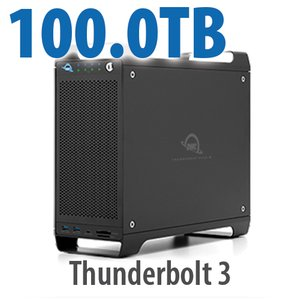100TB (1x2TB U.2 NVMe SSD, 7x14TB HDD) ThunderBay Flex 8 Thunderbolt 3 Storage Solution