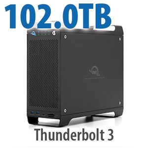 102TB (1x4TB U.2 NVMe SSD, 7x14TB HDD) ThunderBay Flex 8 Thunderbolt 3 Storage Solution