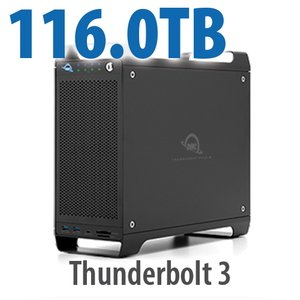 116TB (1x4TB U.2 NVMe SSD, 7x16TB HDD) ThunderBay Flex 8 Thunderbolt 3 Storage Solution
