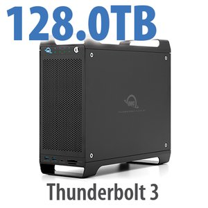128TB (1x2TB U.2 NVMe SSD, 7x18TB HDD) ThunderBay Flex 8 Thunderbolt 3 Storage Solution
