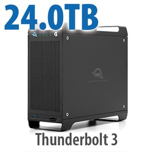 24TB (4x2TB U.2 NVMe SSD, 4x4TB HDD) ThunderBay Flex 8 Thunderbolt 3 Storage Solution
