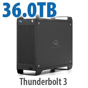 36TB (4x1TB U.2 NVMe SSD, 4x8TB HDD) ThunderBay Flex 8 Thunderbolt 3 Storage Solution