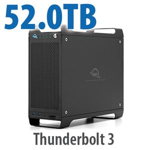 52TB (4x1TB U.2 NVMe SSD, 4x12TB HDD) ThunderBay Flex 8 Thunderbolt 3 Storage Solution