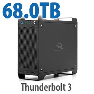 68TB (4x1TB U.2 NVMe SSD, 4x16TB HDD) ThunderBay Flex 8 Thunderbolt 3 Storage Solution