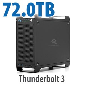 72TB (4x4TB U.2 NVMe SSD, 4x14TB HDD) ThunderBay Flex 8 Thunderbolt 3 Storage Solution