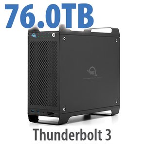 76TB (4x1TB U.2 NVMe SSD, 4x18TB HDD) ThunderBay Flex 8 Thunderbolt 3 Storage Solution
