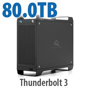 80TB (4x2TB U.2 NVMe SSD, 4x18TB HDD) ThunderBay Flex 8 Thunderbolt 3 Storage Solution